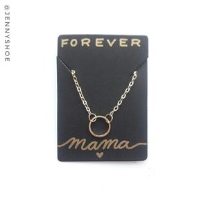 🍒3/$12 sale🍒{forever mama} circle necklace